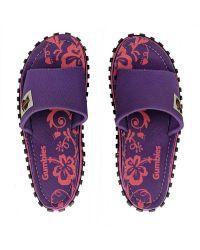 Gumbies Slide natikači - vijolični (Purple Hibiscus)