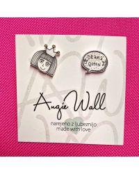 Trendy ročno izdelani unikatni uhani Drama Queen angie wall