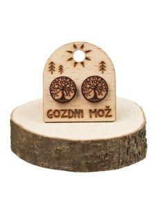 Wooden earrings Tree