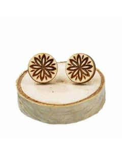 Wooden earrings Mandala 2