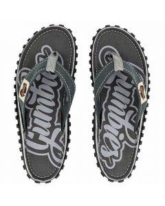 Gumbies flip flops, Cool Grey