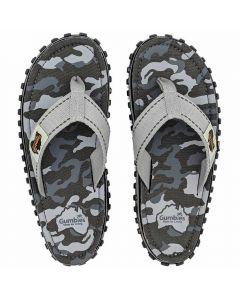 Gumbies flip flops, Grey Camouflage