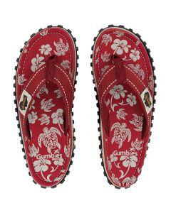 Gumbies flip flops, Pacific Red