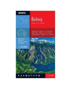 Zemljevid Bohinj 1:25.000