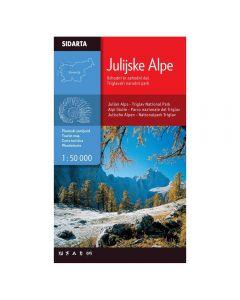 Zemljevid Julijske Alpe - Vzhodni in zahodni del - Triglavski narodni park